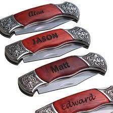 groomsmen knife personalized pocket knife rosewood handle pocket knife
