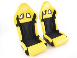 siege baquet fk tuning shop siège baquet modèle race 1 1xgauche 1xdroite jaune