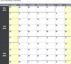 Excel 2010 Calendar Template Weekly Calendar 2016 Excel Weekly Calendar Template
