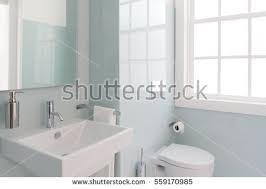 Bathroom Natural Clean Fresh Bathroom Natural Light Stock Photo 559170985