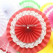 buy paper fans in bulk 100pcs free shipping 12inch 30cm double layer paper fan flodable