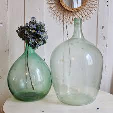 dame jeanne deco grande dame jeanne bonbonne vase forme bouteille en verre vert 35 l