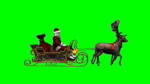 santa with sleigh and running reindeers green screen 4 youtube