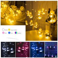 wish ball globe led string lights curtain string fairy light