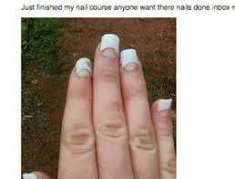 Nail Tech Meme - this photo of bad acrylic nails is actually an advertisement