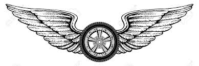 wheel with wings is an illustration of a wheel with wings design