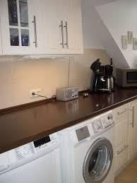 waschmaschine in küche ferienwohnung muschelsucher fewo direkt