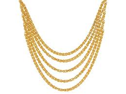 byzantine necklace images 18k yellow gold over bronze byzantine necklace 20 inch bec926 jpg