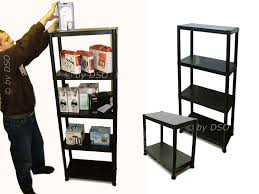 4 Tier Shelving Unit by New 3 X 4 Tier Black Plastic Racking Shelving Shelves Rack Storage