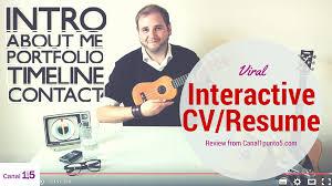 Interactive Resume Viral Video Cv Interactive Resume Canal 1 5