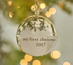 personalized metal ornament pottery barn