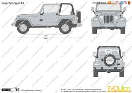 jeep front drawing the blueprints com vector drawing jeep wrangler tj