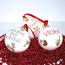 Personalised Christmas Ornaments - personalised christmas tree decorations and baubles