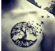 tree of with birds tattoos search