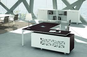 bureau haut bureau de direction haut de gamme montré avec plateau wengé