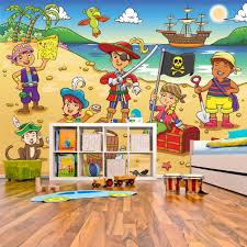 pirate home decor scene wall mural pirate ship wallpaper kids bedroom photo home decor