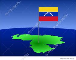 Map Of Venezuela Illustration Of Map Of Venezuela With Flag
