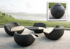 canape jardin resine jardins et terrasses salon jardin modulable résine tressée boule