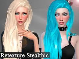 sims 4 blue hair genius666 s retexture hair stealthic aquaria mesh needed