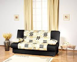 Convertible Sofa Bed With Storage Contemporary Black U0026 Beige Two Tone Sofa Bed With Storage