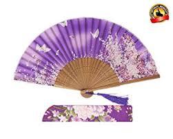 silk fan lysa folding held silk fan for women silk