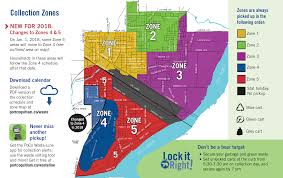 city of kitchener garbage collection collection schedule zone map city of port coquitlam