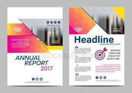 graphic design templates for flyers brochure flyer graphic design layout vector template stock vector