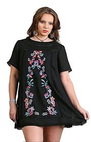 umgee women u0027s boho chic a line floral embroidered dress plus size