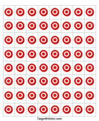printable target 64 small bullseye gun shooting range deer