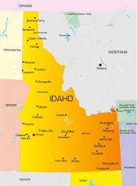 map of idaho vector color map of idaho state usa royalty free cliparts