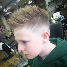 razor cut hairstyle with spiky on top 31 cool hairstyles for boys