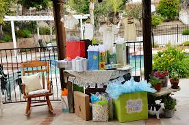 Gender Neutral Gifts by French Country Baby Shower Bebe Soiree Gift Table Presents Jpg