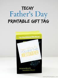 techy father u0027s day gift tag printable loves glam