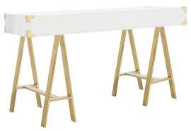 gold and white writing desk the well appointed house luxuries for the home the well