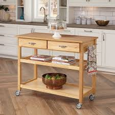 stainless steel top kitchen cart amazon com home styles 5216 95 solid wood top kitchen cart natural