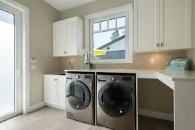 Countertop Clothes Dryer Silver Front Load Washer And Dryer With Marble Herringbone