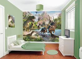 kids room decor large wallpaper kid dinosaur room green wall