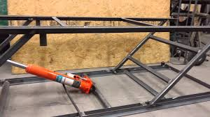 motorcycle lift table plans motorcycle lift table partial build youtube