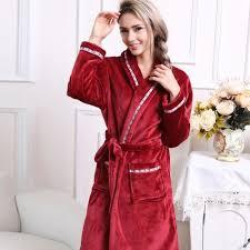 femme de chambre bordeaux robe de chambre polaire confort femme bordeaux à col châle achat