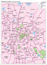 India Map With Cities by Bangalore City Map City Map Of Bengaluru With Important Places