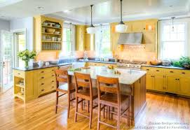 amusing yellow kitchen on traditional cabinets and a contrasting