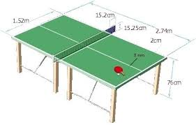 ping pong table dimensions inches regulation ping pong table size photo 7 of 7 standard ping pong