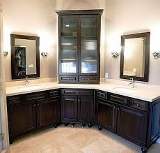 Corner Bathroom Vanity Cabinets Fascinating Corner Bathroom Vanity Cabinet Cabinets Of Best