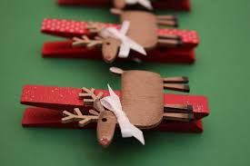 rudolph the reindeer clothespin magnets