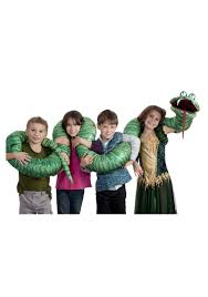 halloween costumes adam and eve big green snake arm puppet