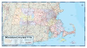 map of massachusetts counties massachusetts counties wall map maps com