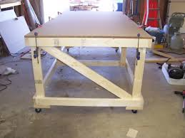 rolling work table plans my 4x8 rolling work bench woodworking talk woodworkers forum