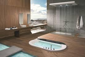 luxury small bathroom bathtub white marble floor with brown tile