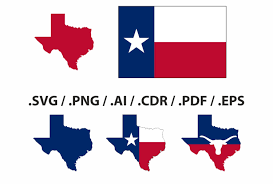 Texas State Flag Image Texas State Map Flag And Symbols Clipart Collection Ai