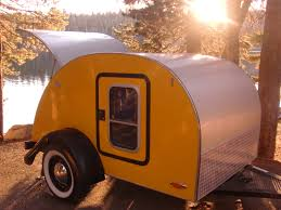 offroad teardrop camper tiny yellow teardrop